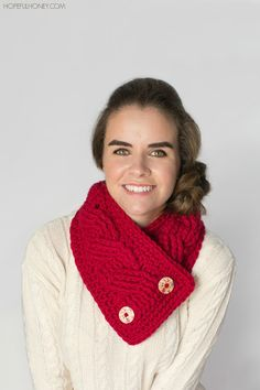 cabled crochet neck wrap pattern