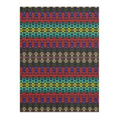 Colorful tribal pattern with mosaic art with color red, blue, yellow and other color. You can also customize it to get a more personal look. Mosaic Patterns, Cozy Blankets, Mosaic Art, Color Red, Blue Yellow, Tile, Colorful, Modern, Design