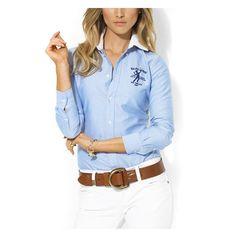 Fringues, Ralph Lauren, Yoshi, Chemisiers Pour Femmes, Chic, Pantalon Blanc, 407c15d32927