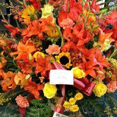 #flowers #funeral #sympathy #fallcolors #fallflowers