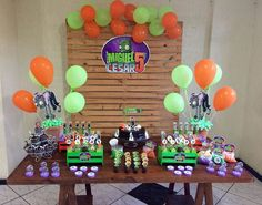 como decorar con globos todo para fiestas de plantas contra zombies Zombie Birthday Parties, 8th Birthday, Zombie Party Decorations, Plantas Versus Zombies, Party Time, Birthdays, Baby Shower, Crafts, Zumba