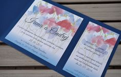 Invitation whit glued invitation to the wedding party