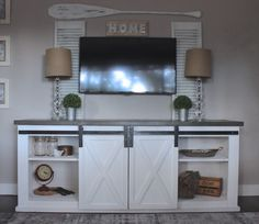 Ana White | Sliding Barn Door Console - DIY Projects