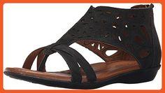 Cobb Hill Women's Jordan Flat Sandal, Black, 7.5 W US - Sandals for women (*Amazon Partner-Link)