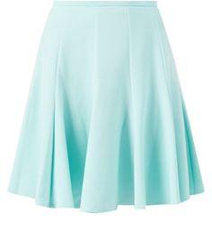 Closet Mint Green Skater Skirt
