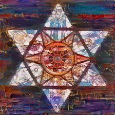 Happy Hanukkah! . . . #pikazo #pikazoapp #pikazoart #holidayart #hanukkah #festivaloflights #stainedglass #starofdavid #instartist #artstagram #paintingapp #artapp #freeapp #seasonal