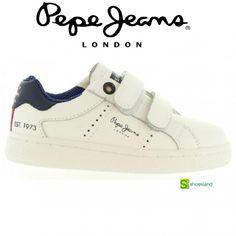 Zapatillas deportivas básicas en piel blanca para niño y niña de Pepe Jeans icono de la moda desde 1973 Del 24 al 31