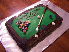 Pool Table Cake cakepins.com