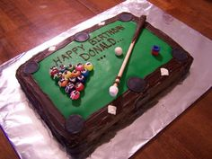 Pool Table Cake cakepins.com