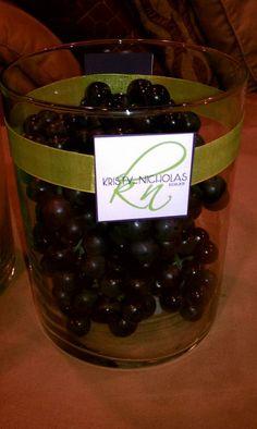 grape & green centerpiece