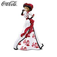 Coca-Cola Elegant Woman Figurine With Coke-Art Toile Skirt