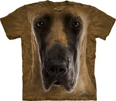 Great Dane Big Face T-shirt in Adult Sizes