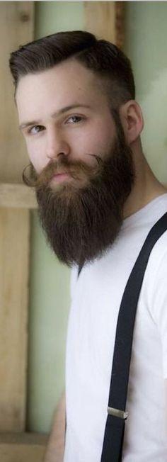 Hot Beards, Great Beards, Awesome Beards, Beard Styles For Men, Hair And Beard Styles, Beard No Mustache, Handlebar Mustache, Scruffy Men, Beard Look