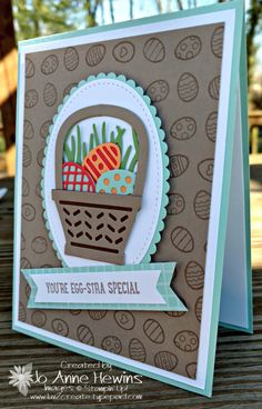 This week I'll be sharing projects made with the Basket Bunch Bundle from the Stampin' Up! Occasions catalog. I just got this bundle on Saturday and I am having so much fun with it. My mind is just reeling with ideas for this bundle. Easter is coming soon. It's the...