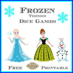We've been having so much fun with these Frozen themed dice games!  Counting, adding, and learning all in a FUN way!  Download, print, and play! Elsa Dice