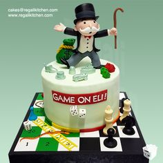 Favorite Board Games Cake | Monopoly, Snakes and Ladders , Chess | Cakes by The Regali Kitchen