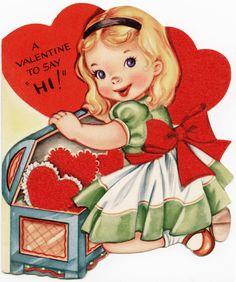 Old Design Shop ~ free digital image: children's vintage Valentine greeting card