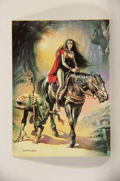 L010223 Boris Vallejo 1991 / Witch And Her Familiar - 1982 - Card #26 / ARTWORK