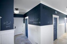 Chalkboard Wall + White