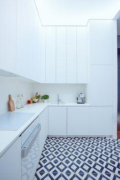 geometric Kibo tiles in black&white