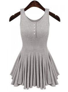 Button Design Dress