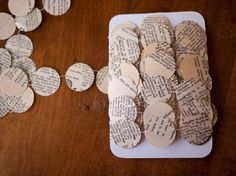 10 Yards Dictionary Garland  Paper circles  by caitlinwilhelm, $15.00