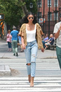 Chanel Iman out in NYC