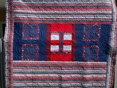 So fun to make 4th of July quilts for summer. Love these stars in varigated red, White, & blue thread.