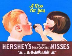 Hershey's Chocolate Kisses A Kiss for Your Retro Vintage Tin Sign Vintage Candy, Vintage Labels, Retro Vintage, Vintage Sweets, Vintage Food, Vintage Stuff, Vintage Signs, Hershey Kisses Chocolate, Hershey Candy