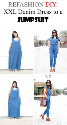 3f21380ce0f I am excited to share with you this tutorial on how to make a maxi dress  into a jumpsuit! If you are taller(I am 5 4″)