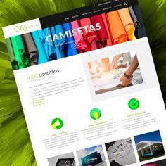 Variedad de productos en la web de Selafer Design Web, Products, T Shirts