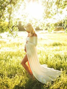 Gorgeous sheer split front long sleeve maternity Maxi dress that will make your next photography session a success Available in Several color options One Size