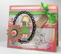 I made this card with the MFT Pure Innocence, Little Shutterbug stamp set and the Plentiful Petals Die-namics.