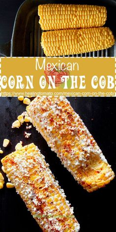 Easy Mexican Corn on the Cob made in the oven and topped with Cotija cheese lime and cayenne pepper. Elote made in the oven is the perfect Mexican Street Food www. Mexican Style Corn, Mexican Dishes, Mexican Food Recipes, Vegetarian Recipes, Cooking Recipes, Vegetarian Mexican, Cooking Rice, Mexican Corn Side Dish, Corn Recipes