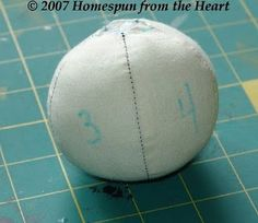 Creating 3D Round Head Dolls Tutorial From Cindy Markovcy of Homespun From The Heart