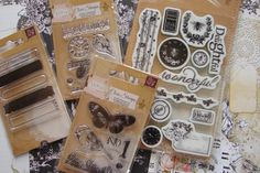 This is paradise, a delightful place with cherished friends and memories are captured with Prima Lyric collection. Lovely scrapbooking papers, metal clips, chipboard pieces, stamps, brads and flowers.