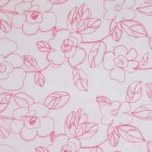 White/Pink Floral Embr & Eyelet