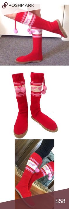 Victoria's Secret PINK Mukluks Slipper Boots Don't forget these cute, cozy knee-highs slipper boots. Perfect for wearing out or around the house. #christmas #vspink PINK Victoria's Secret Shoes Slippers