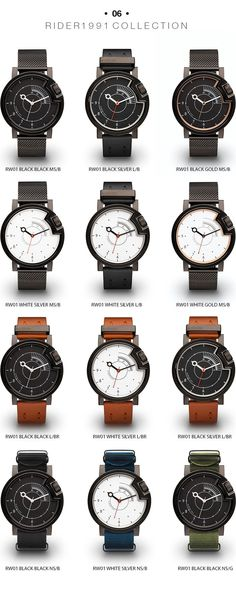 Wrist watches for free motion through lifetime with unique case design inspired by the Café Racer motorbike culture. #WristWatches