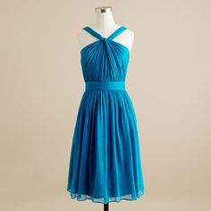 again, gorgeous blue... hate upper bodice, love the flowy short bottom and color.