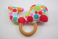 Stuffed Teething Rattle  Stuffed Whale by TheWoodenQuail on Etsy, $10.00