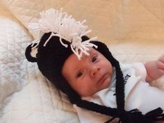 Handmade Crochet Baby Newborn Skunk Hat by CathysCreationsNC, $20.00