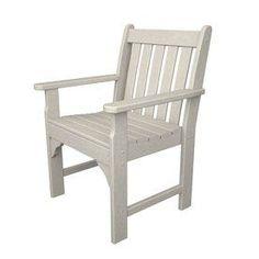 Polywood Vineyard Sand Plastic Patio Conversation Chair Gnb24sa