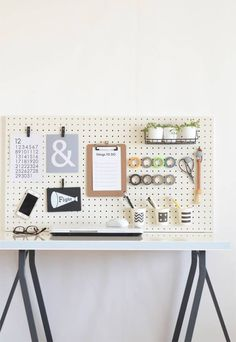 20161226_12 Pegboard Organization, Office Organization, Muji Storage, Life Space, Tidy Up, Space Crafts, Furniture Decor, Diy And Crafts, Easy Diy
