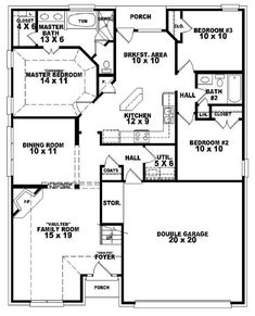 1000 images about floor plans on pinterest floor plans traditional house plans and duplex plans - Houses bedroom first floor fit needs ...