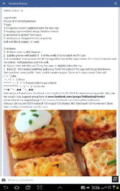 Pinned from Pin It for iPhone Easy Delicious Recipes, Yummy Food, Vienna Bread, Rita Recipe, Veggie Recipes, Cooking Recipes, Potato Puffs, Leftover Mashed Potatoes, Veggie Delight