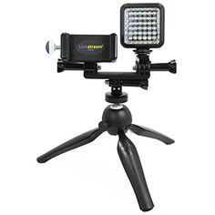 Livestream Gear - Smartphone and LED Light Tripod Live Stream, Facebook Live or YouTube, to Fit Regular Sized Devices. Also Works with Sport Cameras. (Md. Device and LED Tripod) * Want additional info? Click on the image. (This is an affiliate link) Car Accessories For Women, Cell Phone Accessories, Tablet Phone, Smartphone, Recording Equipment, Sports Camera, Video Lighting, Led, Tripod