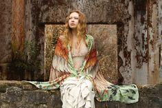 SALE Wing Scarf Bird Feather Scarf Digital Print Scarf Boho