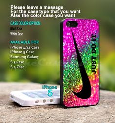 Nike Just Do It  Rainbow Sparkle - For iPhone 5 Black Case Cover | TheCustomArt - Accessories on ArtFire