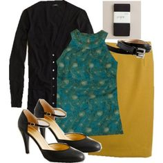 we love the pencil skirt!  would you call that mustard or chartreuse?